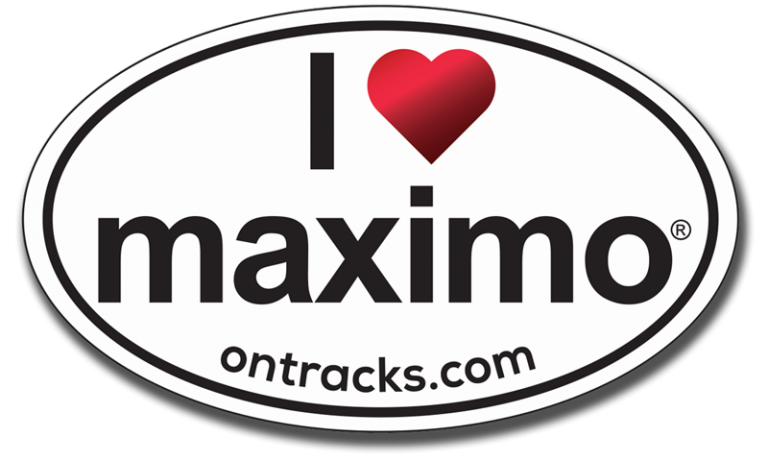 I Love Maximo oval sticker
